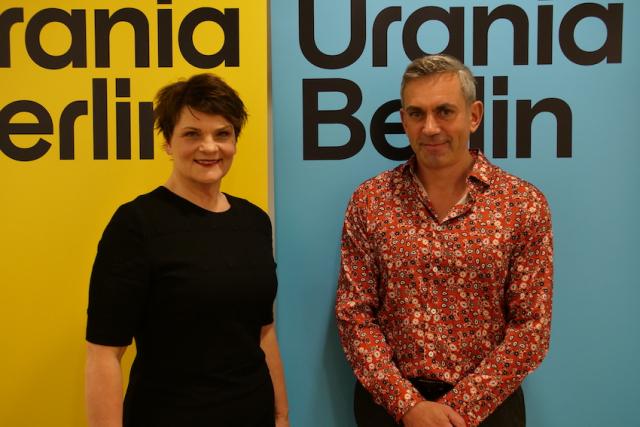 Gayle Tufts und Wladimir Kaminer / Bild: Gökhan Yilmaz (Urania Berlin)